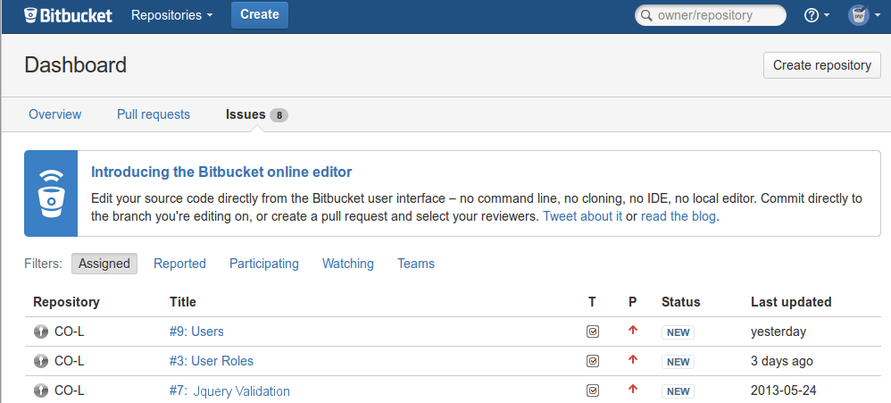 bitbucket-Issues