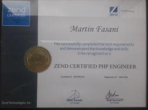 Martin Fasani Zend Certification